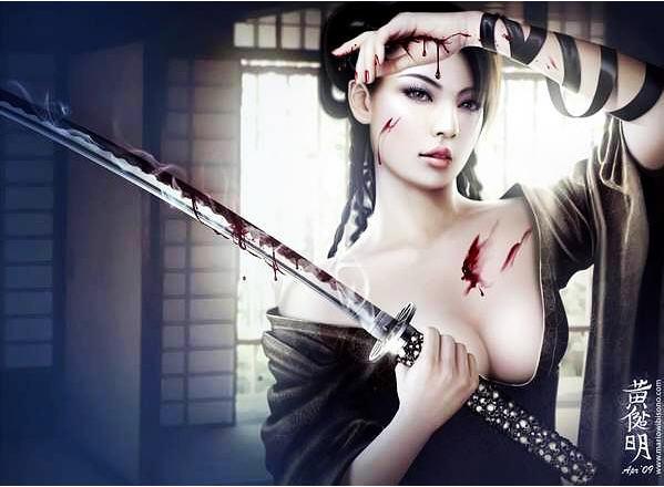 设计师黄健明超惊艳游戏女主角欣赏