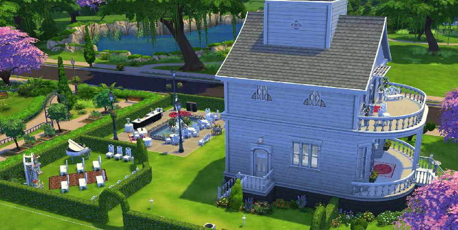 模拟人生4婚礼用浪漫房屋mod