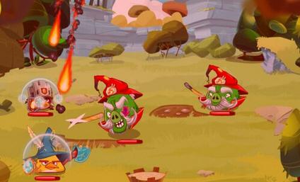 飞翔小鸟游戏背景素材