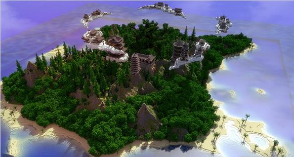 我的世界蓬莱仙岛存档
